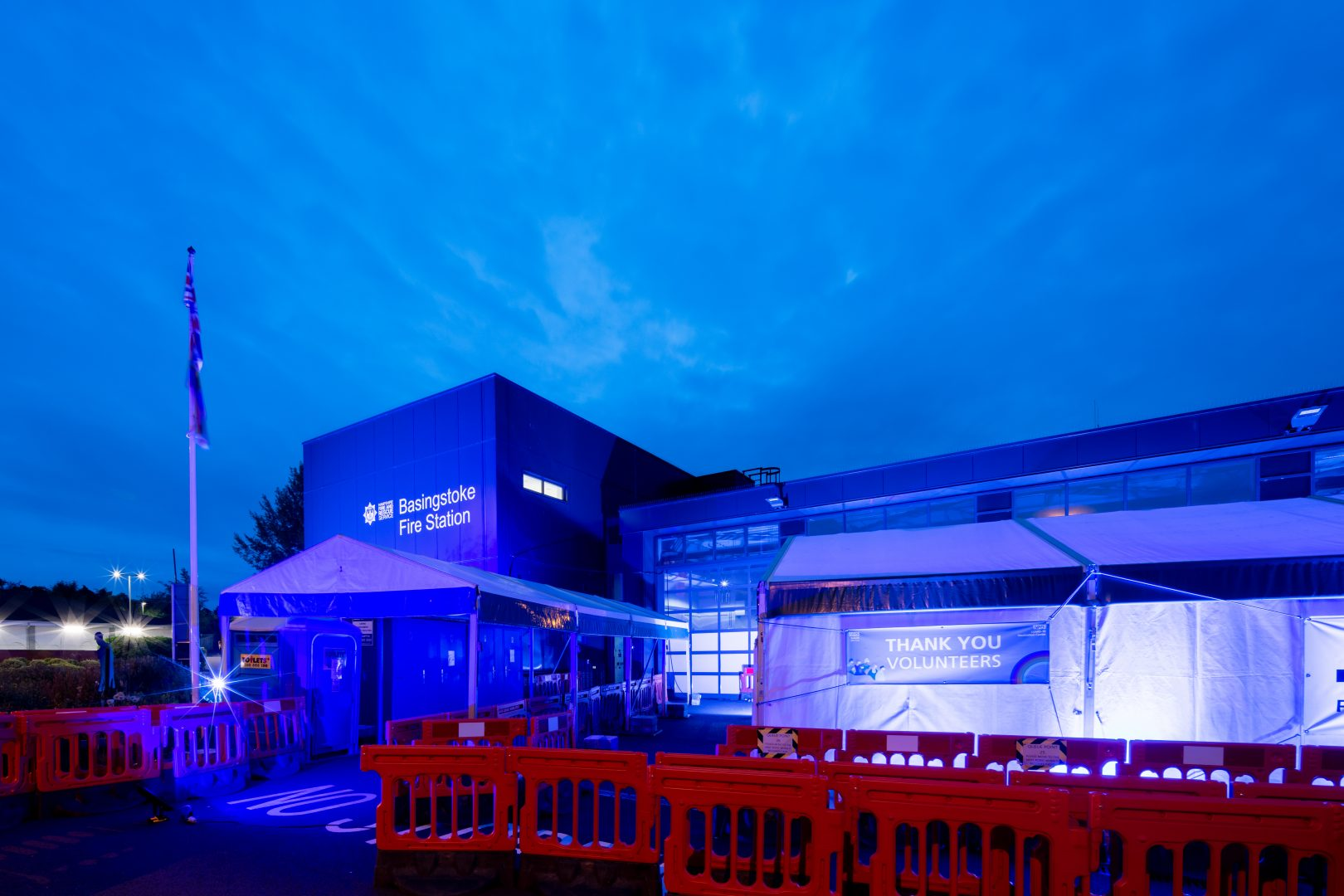 Our Basingstoke centre among country's landmarks lit blue